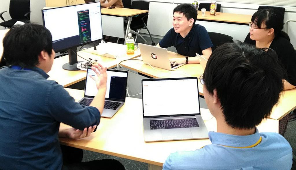 モブプログラミングワークショップの写真