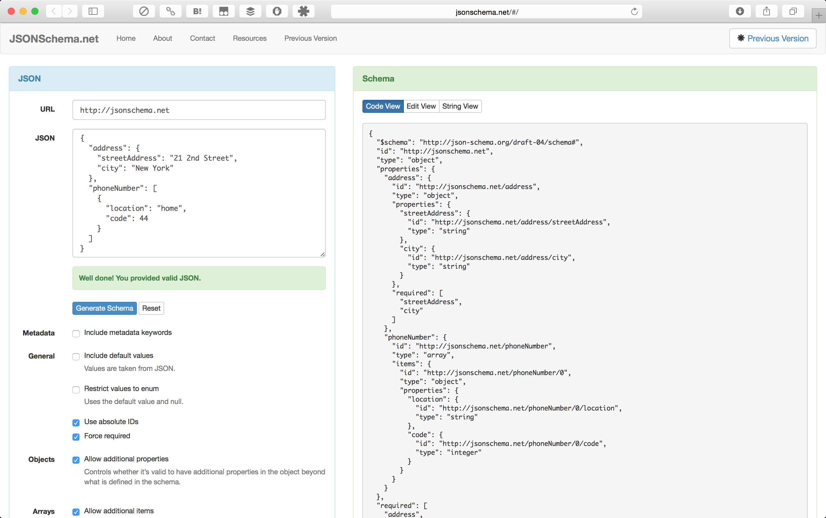 JSON Schema Generator Software and Libraries | NTT Communications