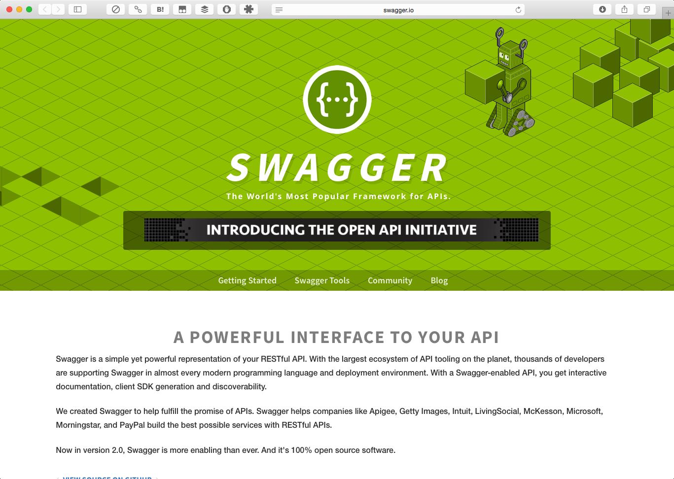SwaggerのWebサイト